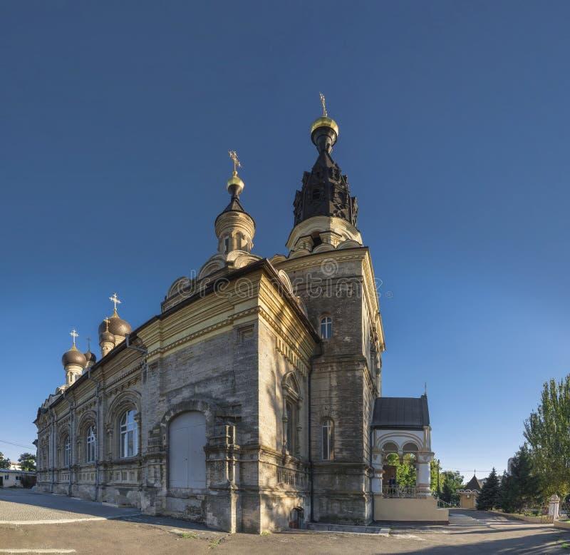 大教堂教会在尼高拉夫,乌克兰 免版税库存照片