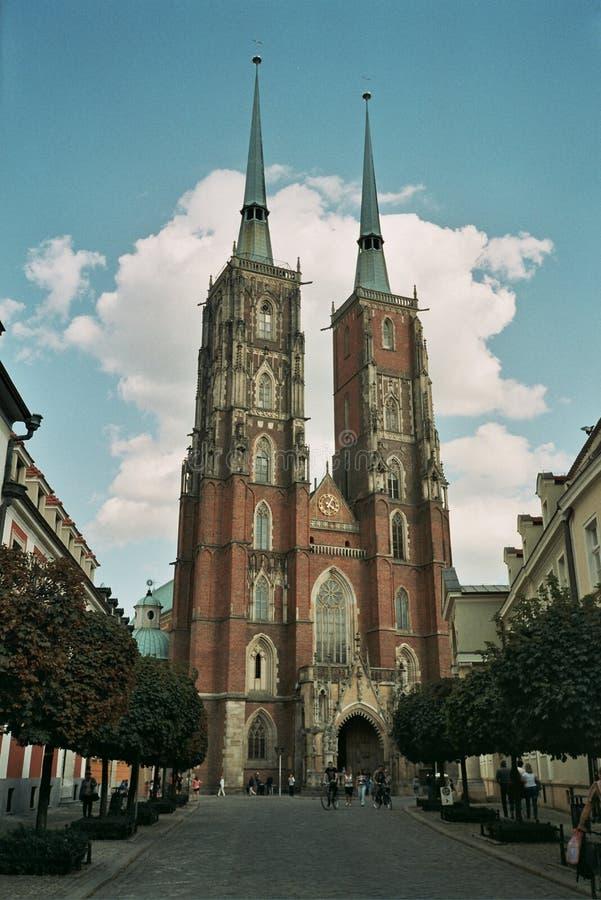 大教堂教会弗罗茨瓦夫波兰 库存照片