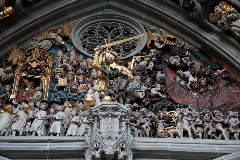 大教堂教会; 伯尔尼; 瑞士 库存照片