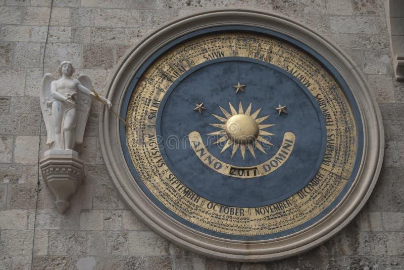 大教堂时钟墨西拿 免版税库存图片