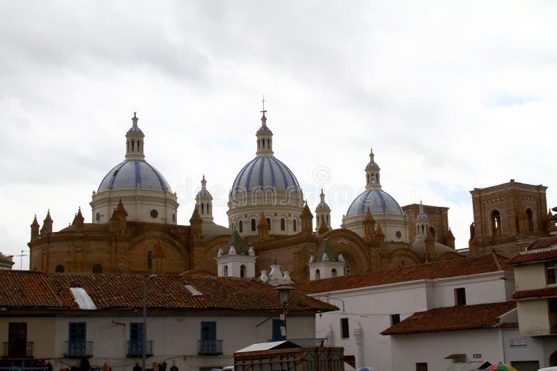 大教堂构想洁净的cuenca 免版税图库摄影