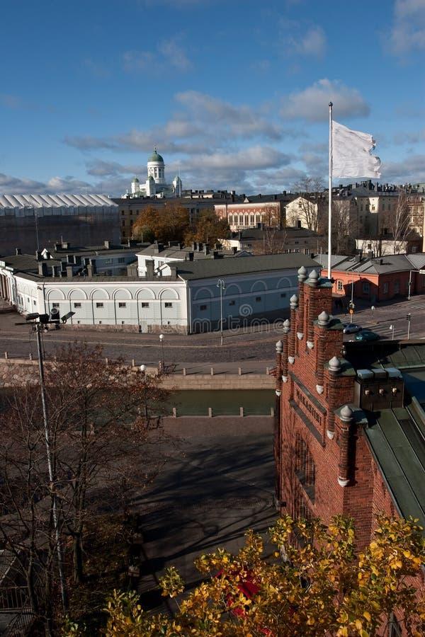大教堂查看的赫尔辛基 免版税库存图片