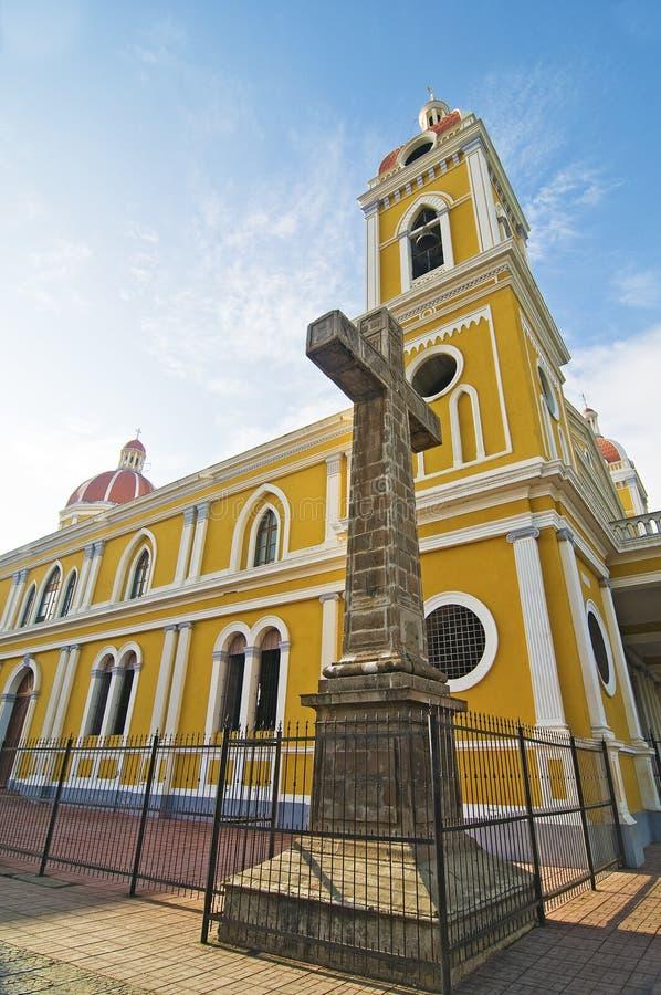 大教堂格拉纳达尼加拉瓜 免版税图库摄影