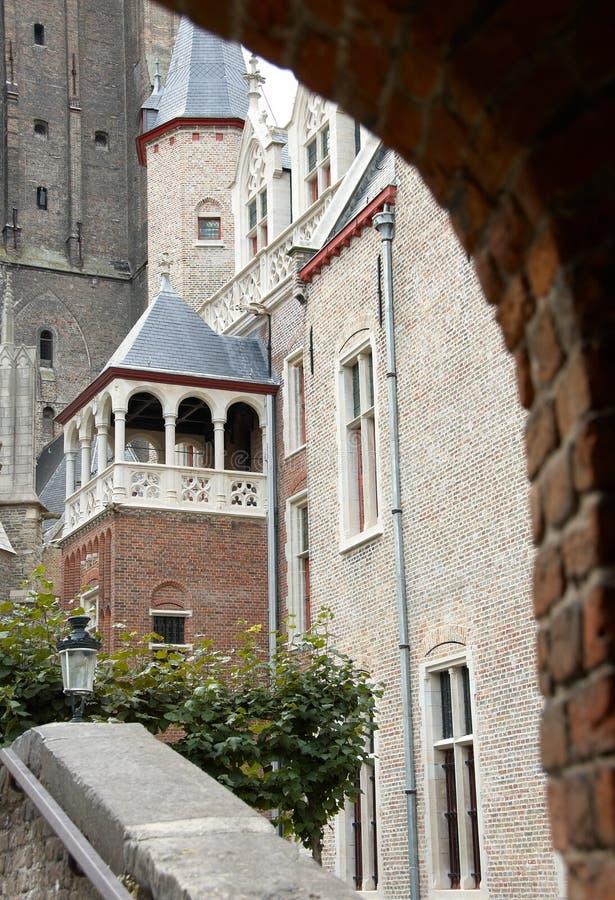 大教堂比利时血液圣洁的布鲁日 免版税图库摄影