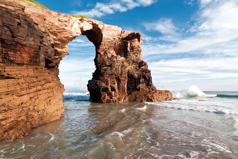 大教堂海滩,加利西亚 库存图片