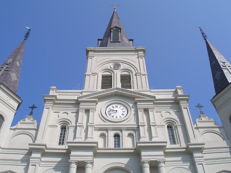 大教堂特写镜头路易斯st 库存照片