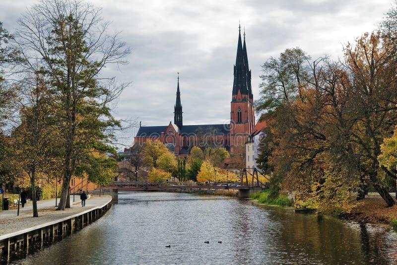 大教堂瑞典乌普萨拉 免版税库存照片