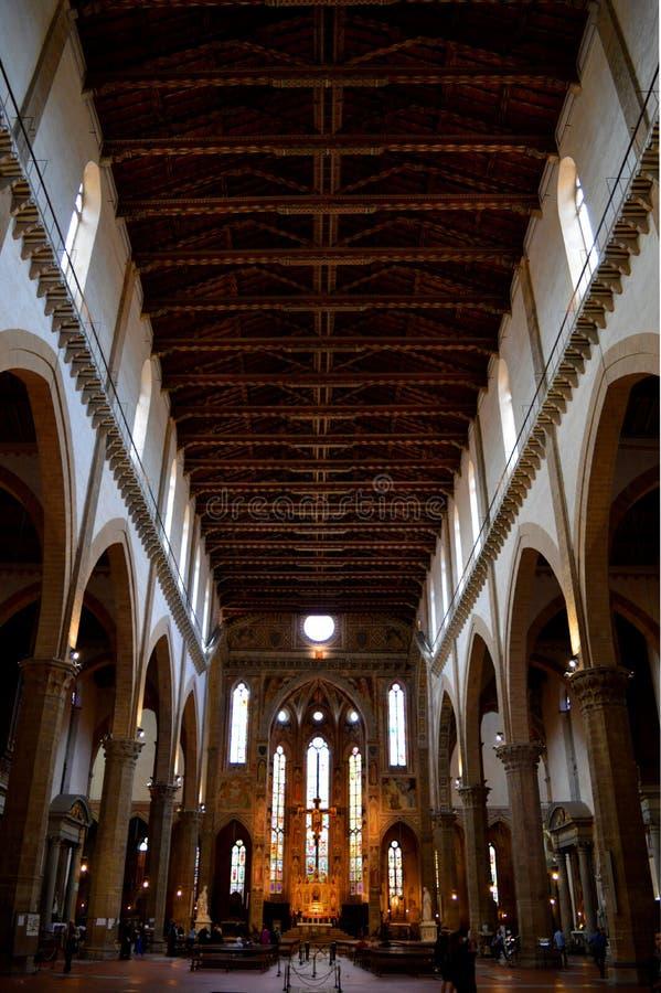 大教堂的内部在佛罗伦萨,意大利 免版税库存照片