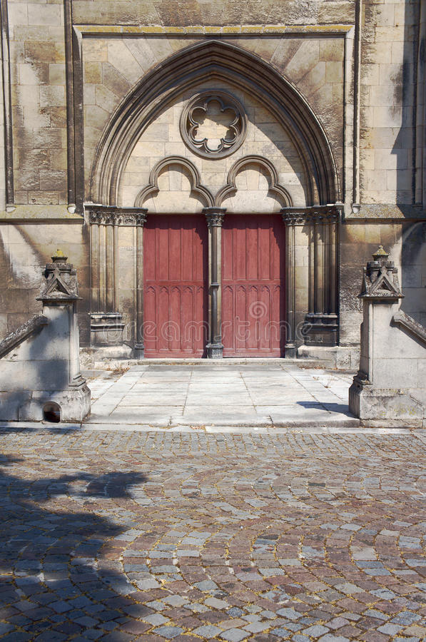 大教堂的门户 免版税库存图片