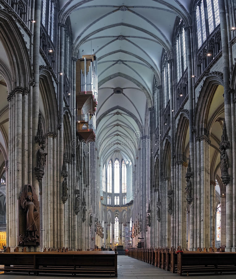 大教堂科隆香水德国内部 免版税库存照片