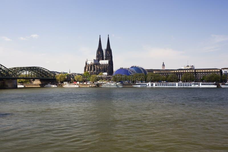 大教堂科隆香水莱茵河 库存图片