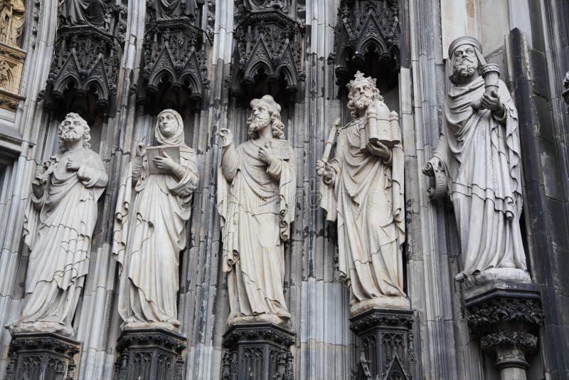 大教堂科隆香水雕塑 免版税库存照片