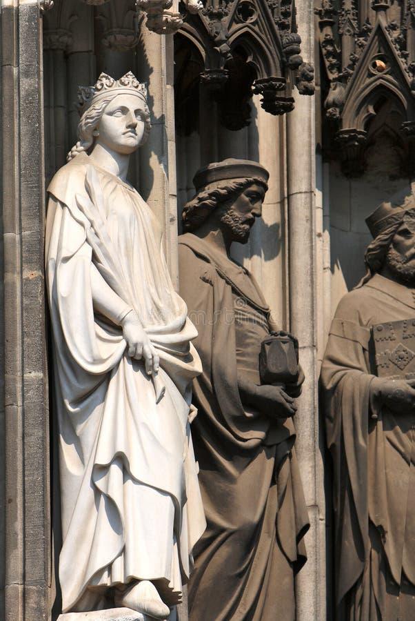 大教堂科隆香水雕塑 库存照片