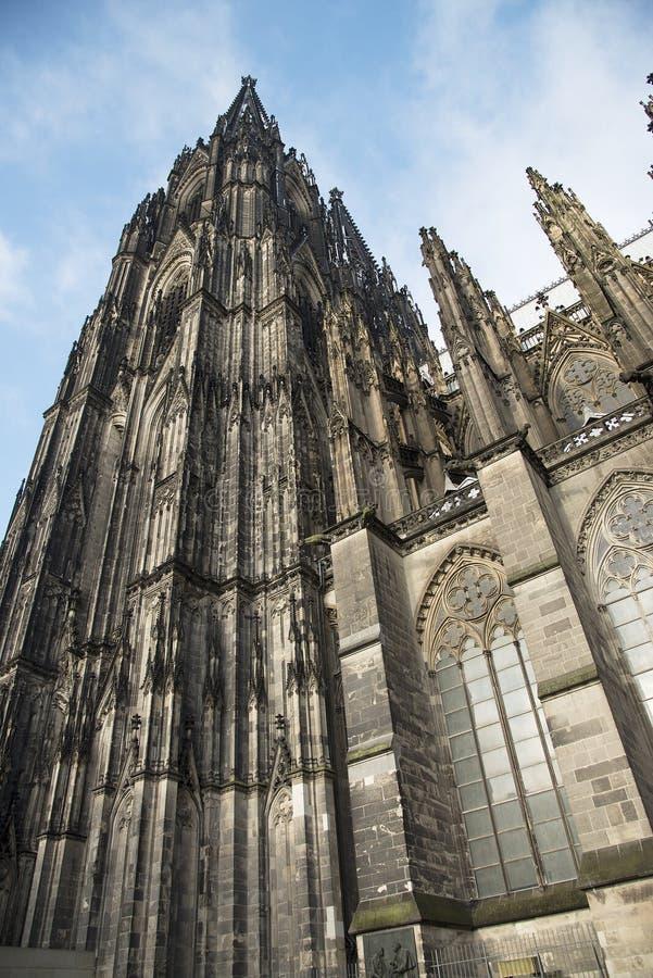 大教堂科隆香水著名德国遗产国际地标站点科教文组织世界 世界遗产名录-天主教哥特式大教堂在科隆 免版税库存照片