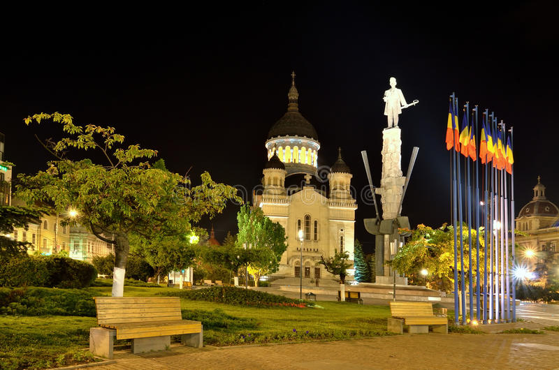 大教堂科鲁napoca正统罗马尼亚 库存图片