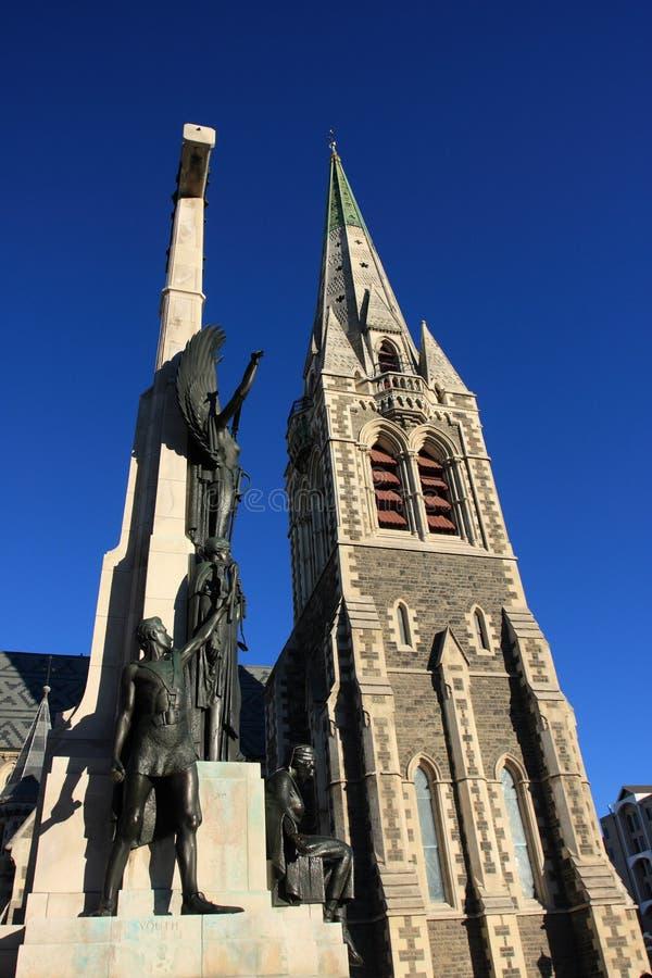 大教堂纪念碑克赖斯特切奇 库存照片