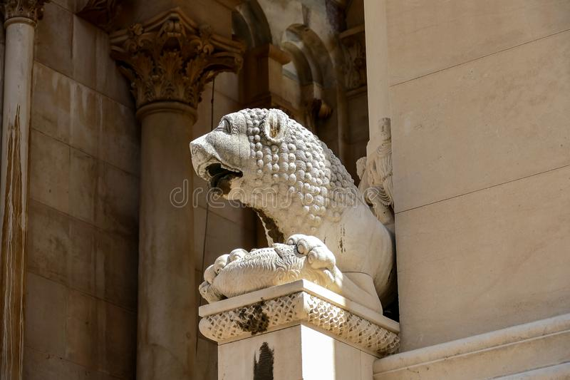 大教堂细节在佛罗伦萨意大利,数字式照片图片作为背景 免版税库存照片