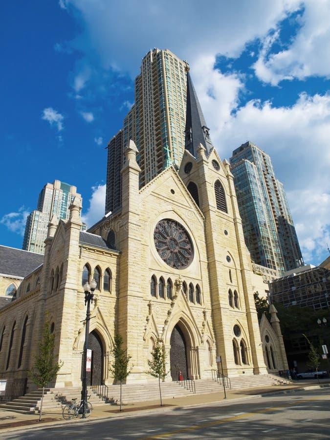 大教堂芝加哥圣洁名字 免版税库存照片
