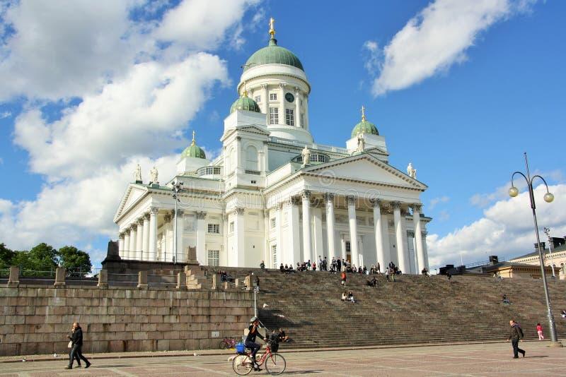 大教堂芬兰赫尔辛基 库存图片