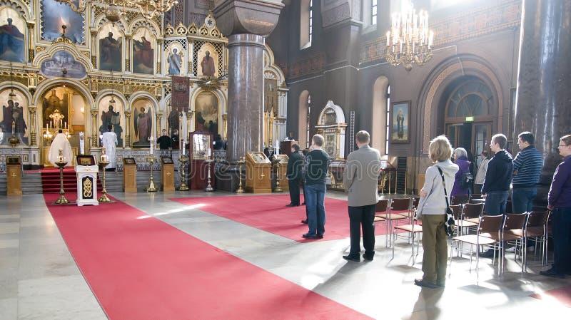 大教堂芬兰uspensky的赫尔辛基 库存图片