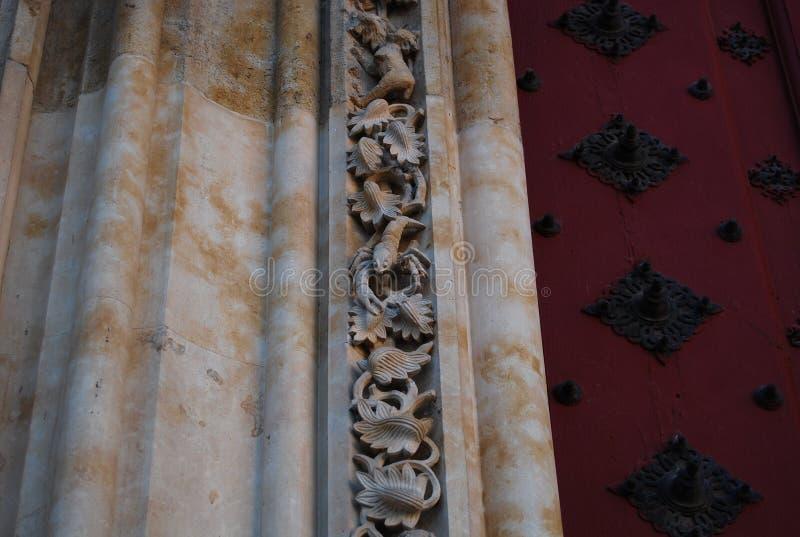 大教堂萨拉曼卡螃蟹 图库摄影