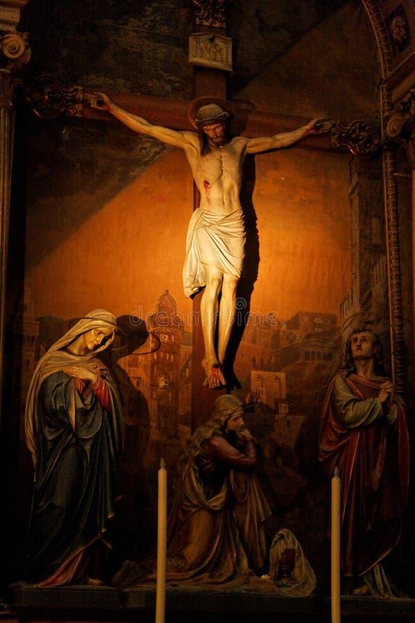 大教堂蒙得维的亚乌拉圭 免版税库存照片