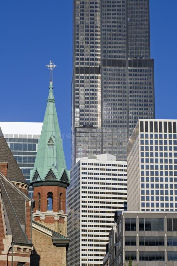 大教堂街市的芝加哥 免版税库存照片