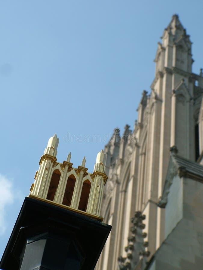 大教堂详细资料国民 免版税库存图片