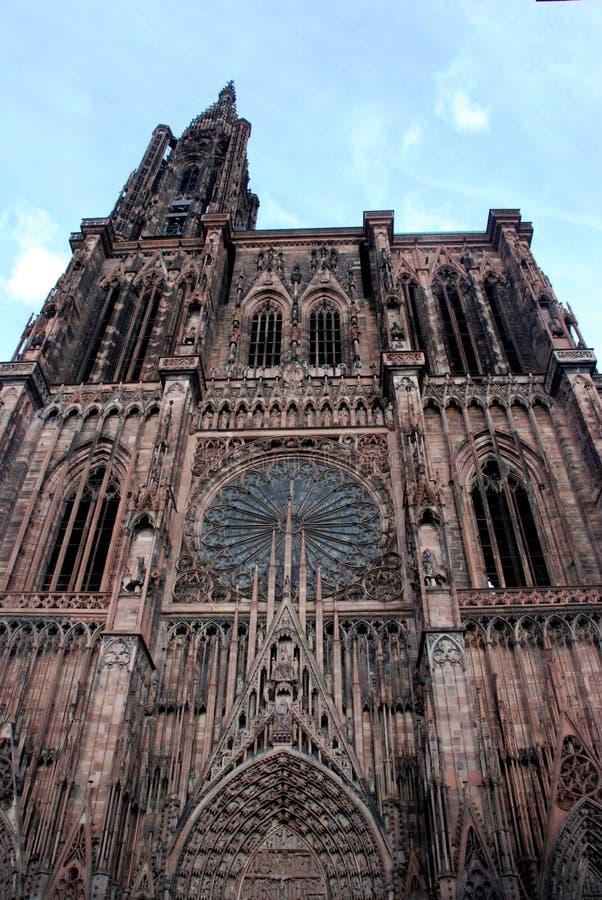 大教堂贵妇人notre strasburg 库存图片
