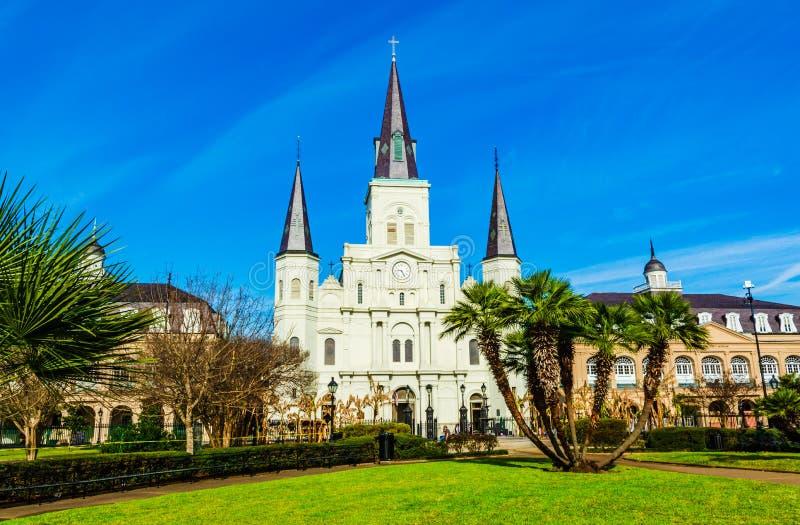 大教堂路易斯・新奥尔良st 库存图片