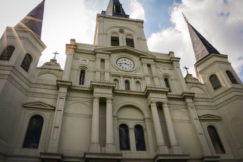 大教堂路易斯・新奥尔良st 库存照片