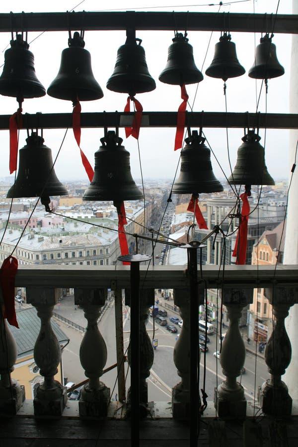 从大教堂钟楼的看法  免版税库存图片