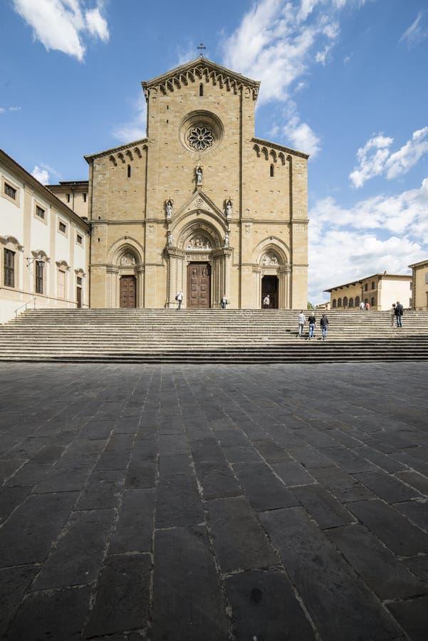 大教堂阿雷佐托斯坎意大利欧洲 免版税库存照片