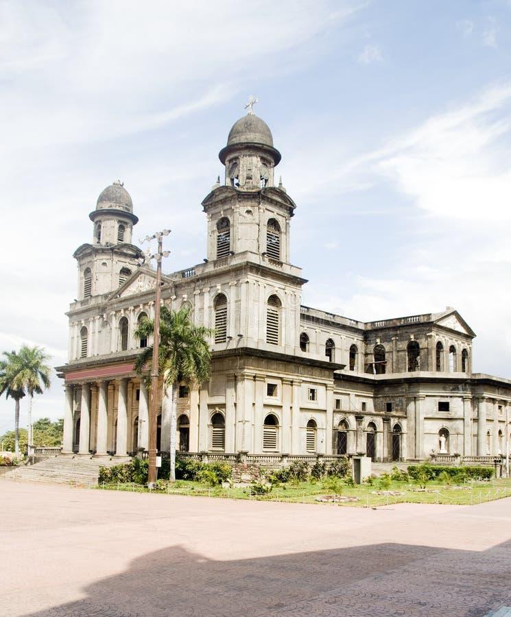 大教堂马那瓜尼加拉瓜圣地亚哥 免版税图库摄影