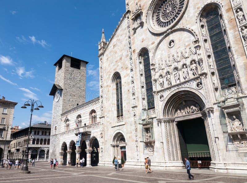 大教堂,科莫,意大利 免版税图库摄影