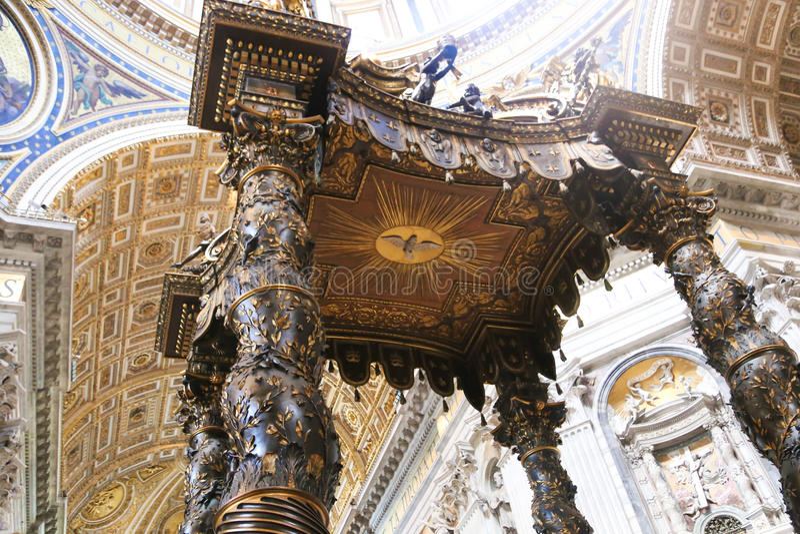 大教堂-梵蒂冈,意大利艺术  免版税库存照片