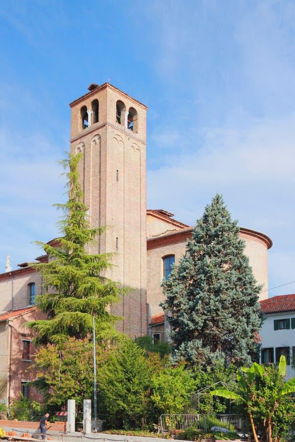 大教堂belltower 梅斯特雷,意大利 库存图片