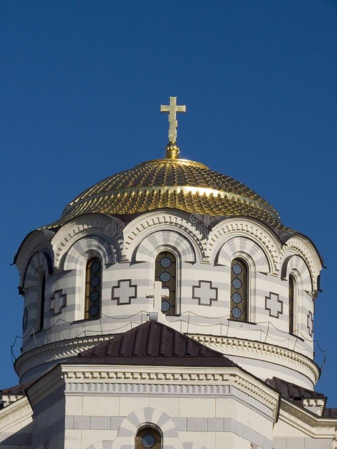 大教堂chersonesus 库存照片