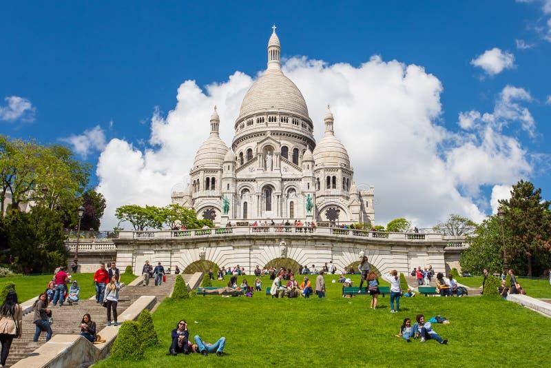大教堂coeur法国巴黎sacre 免版税库存图片