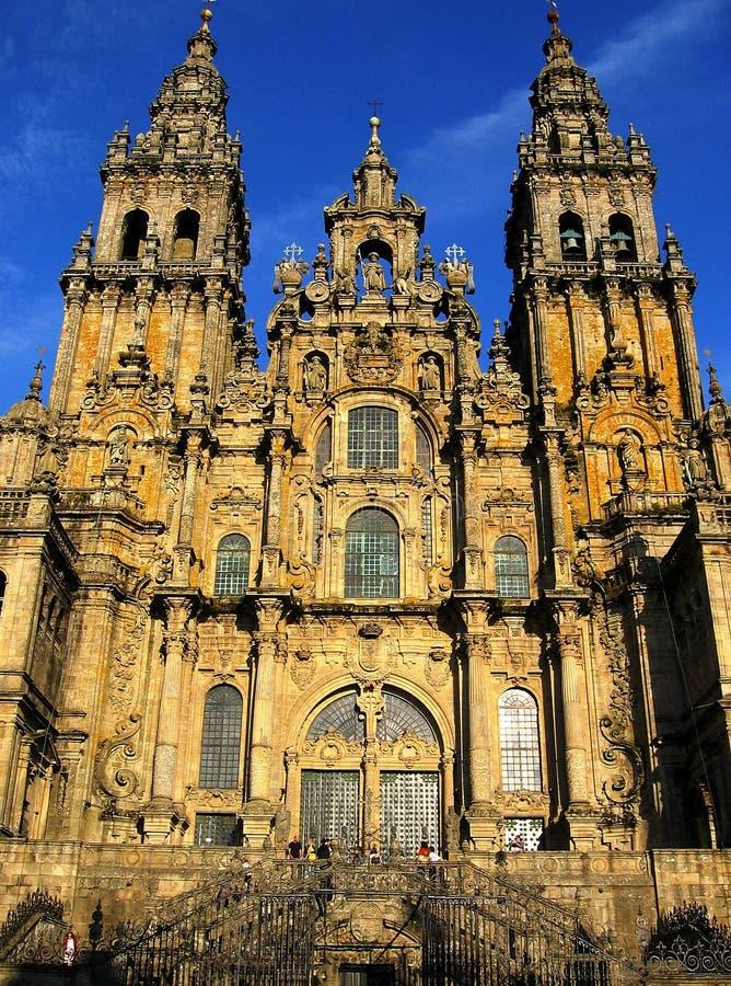 大教堂compostela圣地亚哥 图库摄影