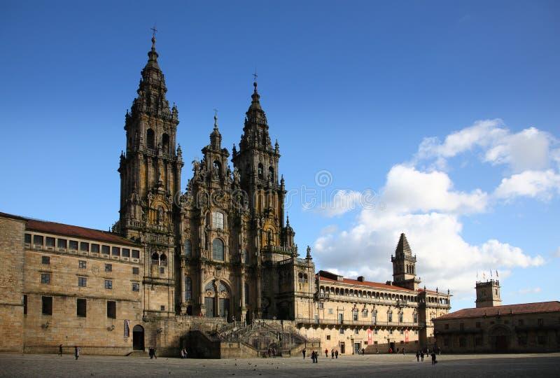 大教堂compostela de圣地亚哥 免版税库存照片