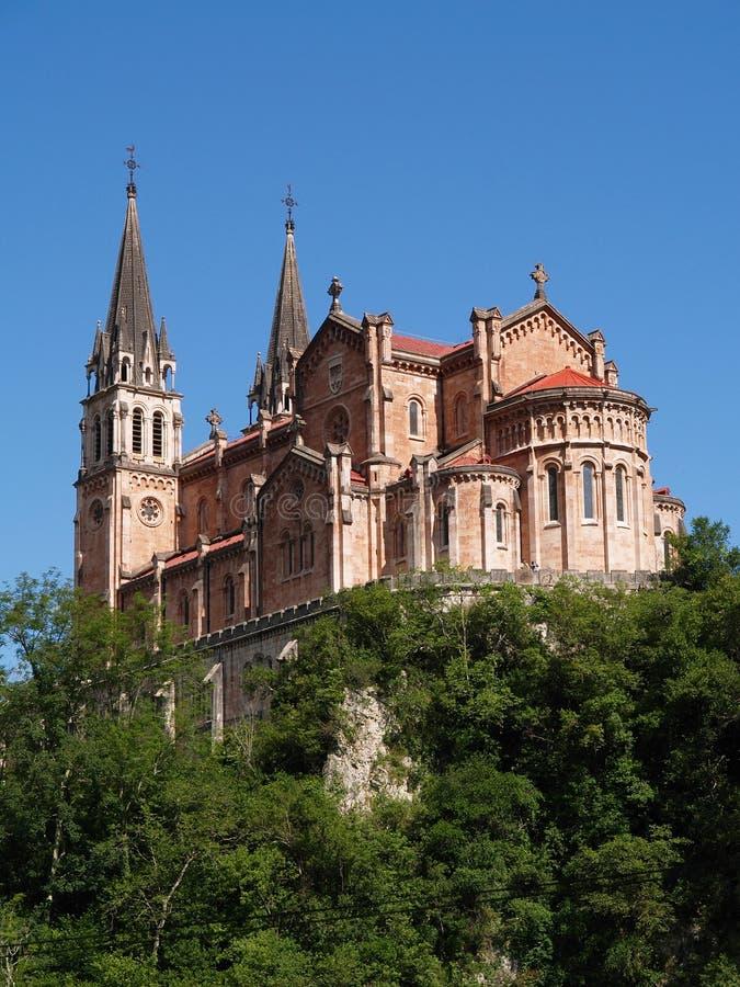 大教堂covadonga de西班牙 免版税库存图片