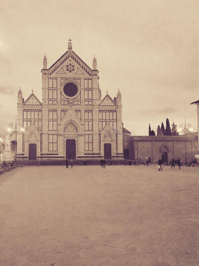 大教堂croce佛罗伦萨圣诞老人 免版税库存图片