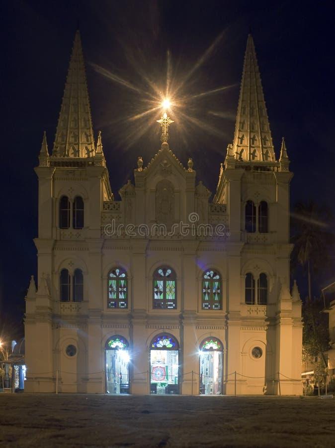 大教堂cruz圣诞老人 库存照片