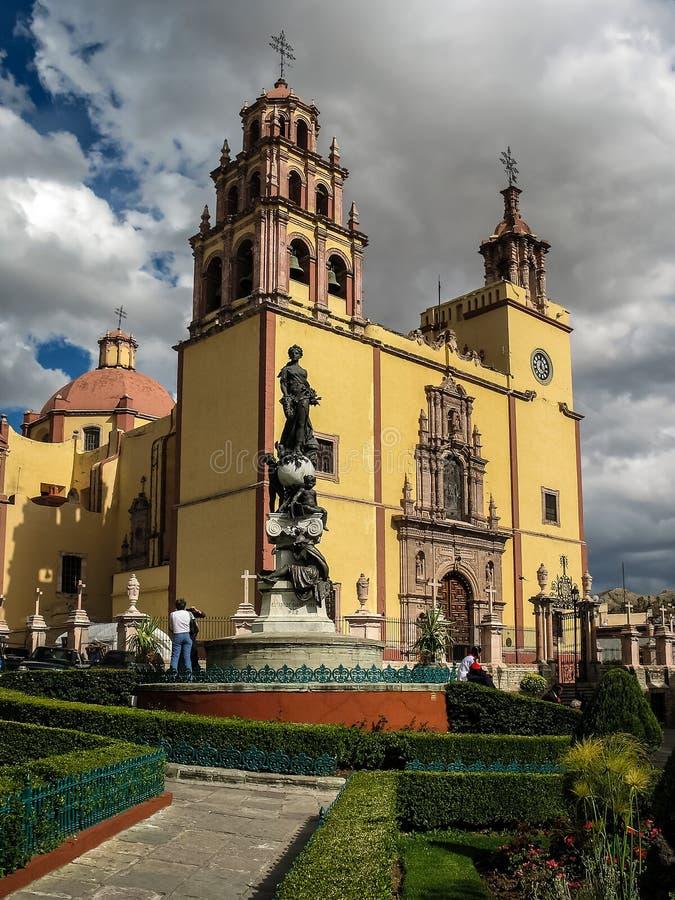 大教堂de瓜纳华托州,墨西哥 库存照片