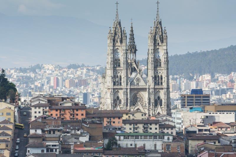 大教堂del沃托Nacional,基多,厄瓜多尔教会  免版税库存照片