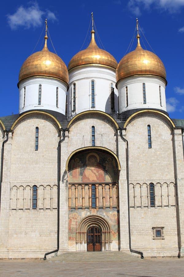 大教堂dormition克里姆林宫莫斯科俄国 免版税图库摄影