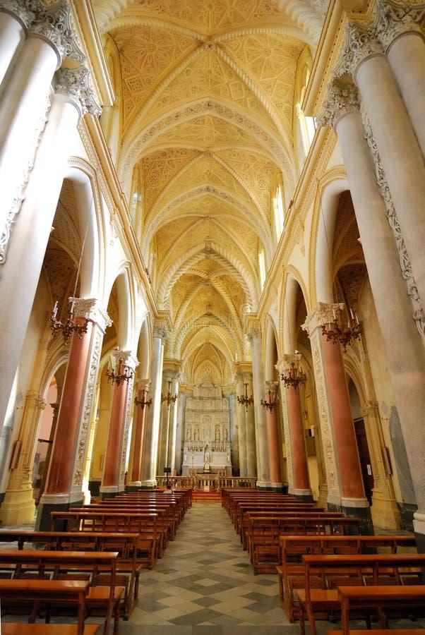 大教堂erice西西里岛 免版税库存照片