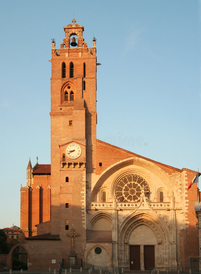 大教堂etienne ・法国圣徒图卢兹 免版税库存照片
