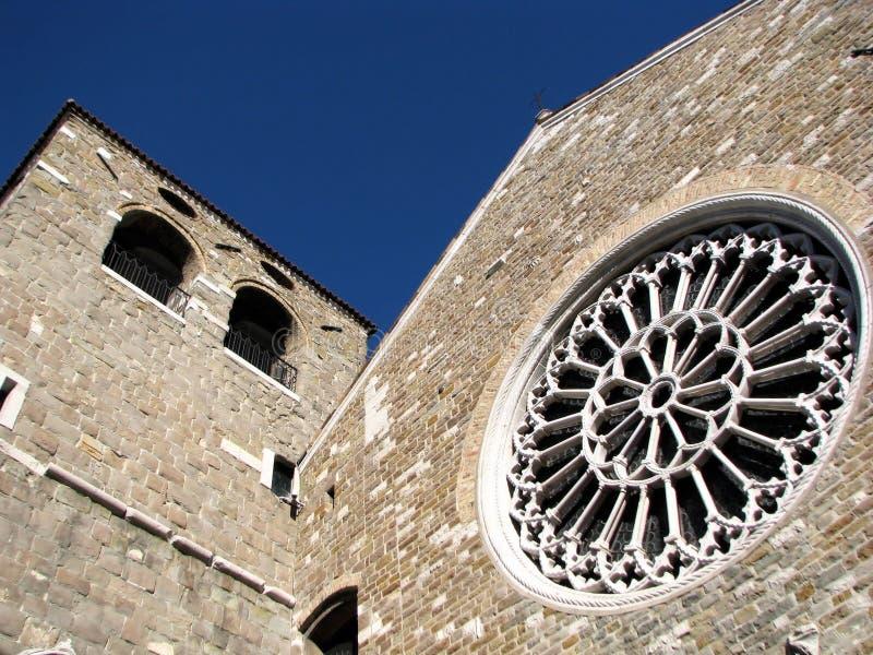 大教堂giusto意大利圣・的里雅斯特 库存照片